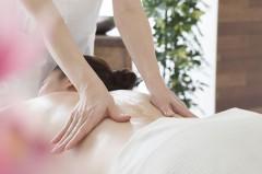 Women receiving massage furnace at a prone