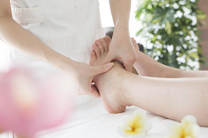 Instep of Shiatsu massage